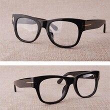 dfdaab05e Cubojue العلامة التجارية نظارات إطار الرجال الأسود الفاخرة نظارات بتصميمات  مميزة رجل prescrition نظارات أزياء النظارات
