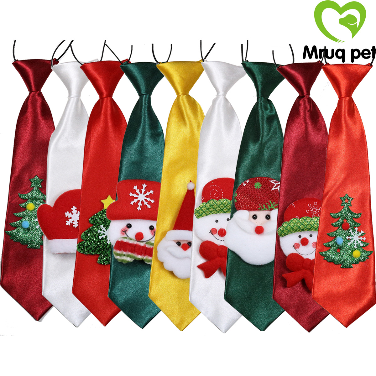 50pcs Christmas Child Kids Pet Dog Neck Ties&Bow Ties for Large Dog Neckties Dog Grooming Accessories Pet Products