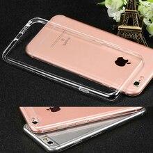 Para a apple iphone 7 7 mais caso capa de silicone i 7 mais telefone Coque de volta Ultra Slim TPU Transparente Soft Case Transparente Para iphone7 i7