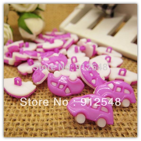 18mm*12mm 100pcs violet Car plastic buttons flower buttons for children garment ,c005