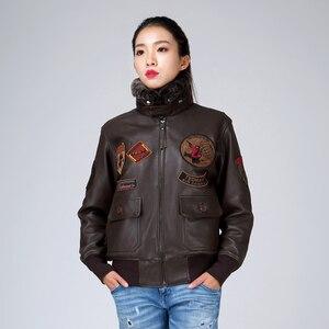 Куртка-Авиатор, из натуральной овчины, с воротником, короткие, облегающие, новинка 2016