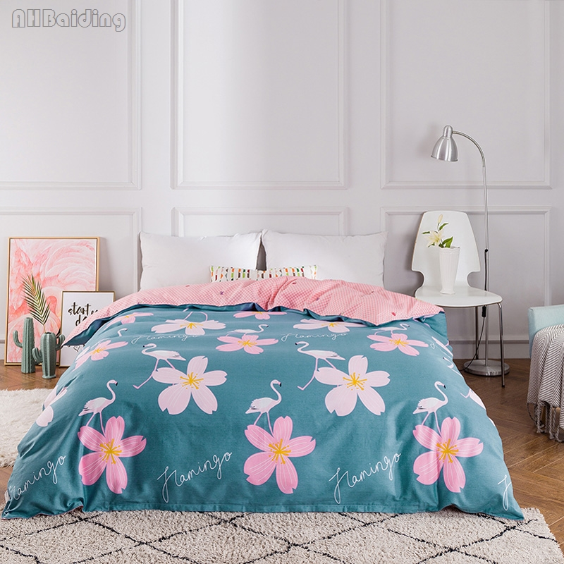 Home Textile Pastoral Swan Flower Printing Duvet Cover High Quality Cotton Quilt Cover Bed Comforter or Blanket Cover Bedclothes