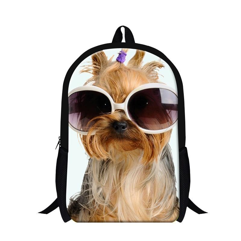 Dispalang Pet dog 3D print designer backpacks for girls cute Animal teenager back pack mochilas school bags for children bagpack