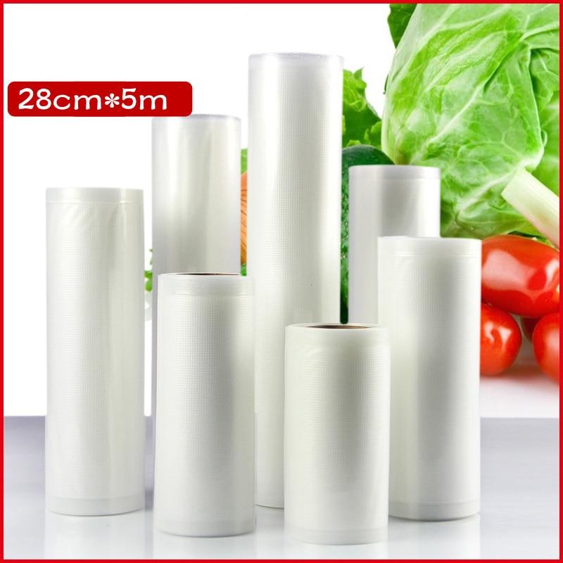 3pcs/lots 28cm*500cm*160micron Clear <font><b>Shopping</b></font> Vacuum Plastic Packaging <font><b>Bags</b></font>, Fruit packaging <font><b>Bag</b></font>