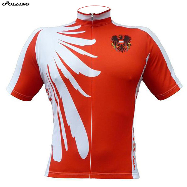 d40bec47020 New 2018 Red Austria Team Cycling Jersey Customized Road Mountain Race Top  Classical OROLLING