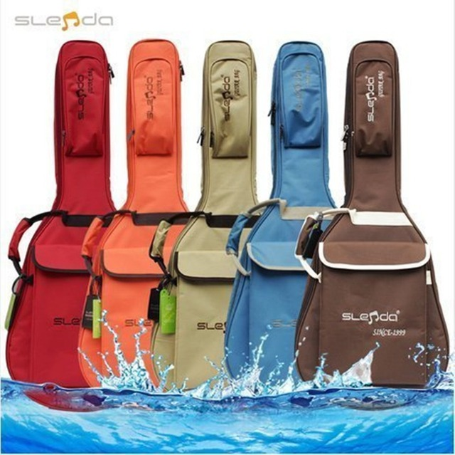 Top quality professional portable 40 41 music acoustic guitar soft gig bag waterproof case backpack cover shoulder straps padded