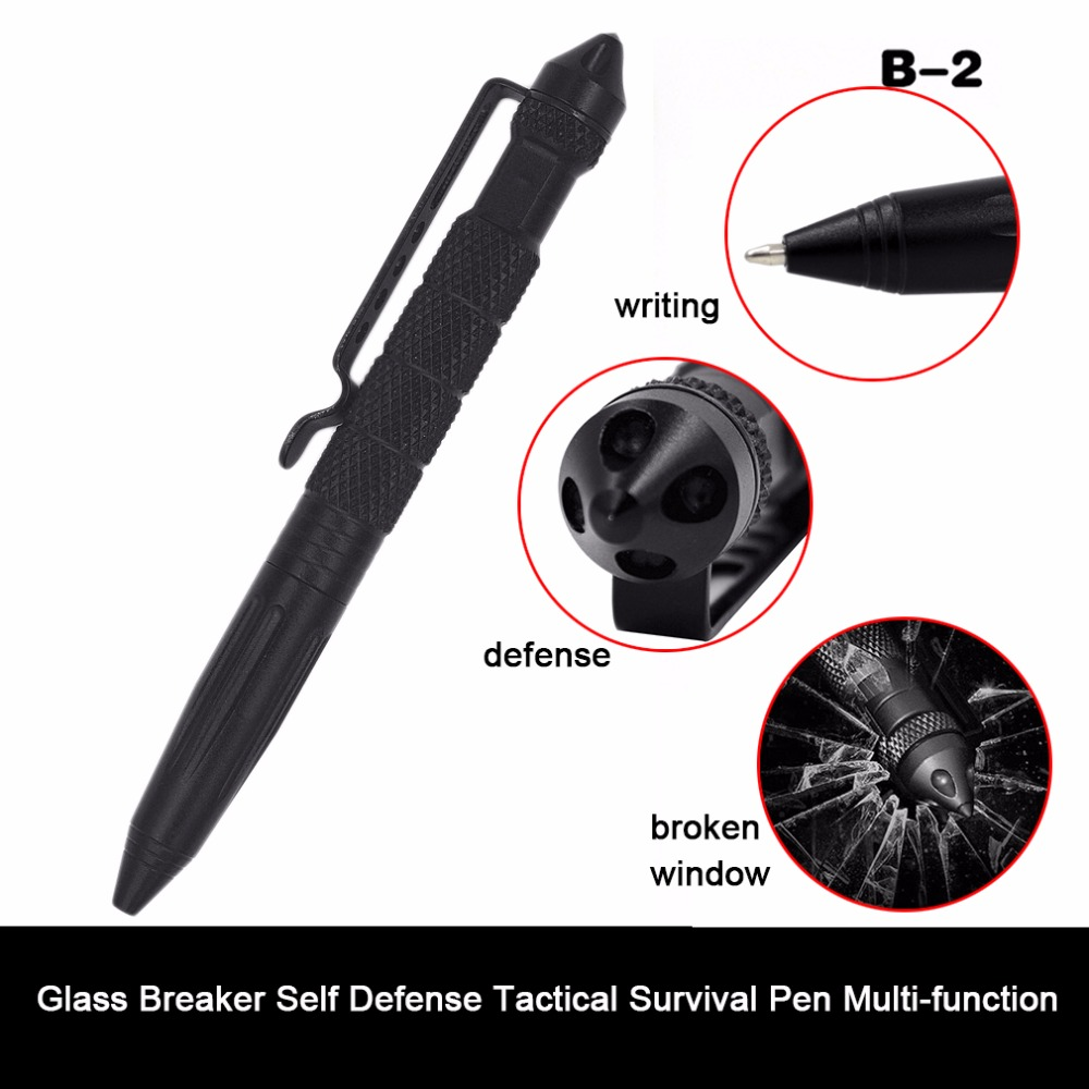 Tactical Pen Self Defense Weapons Glass Breaker Aluminum Alloy EDC Tool Survival Kit Outdoor Multifunctional Emergency Kit anti skid hard anodic oxidation 3 tactical pen self defense tool emergency tactical pen aviation aluminum tools free shipping