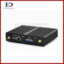 Hot Selling Fanless mini PC barebone Intel Celeron J1900 Quad Core HDMI 3D games support HTPC NC590