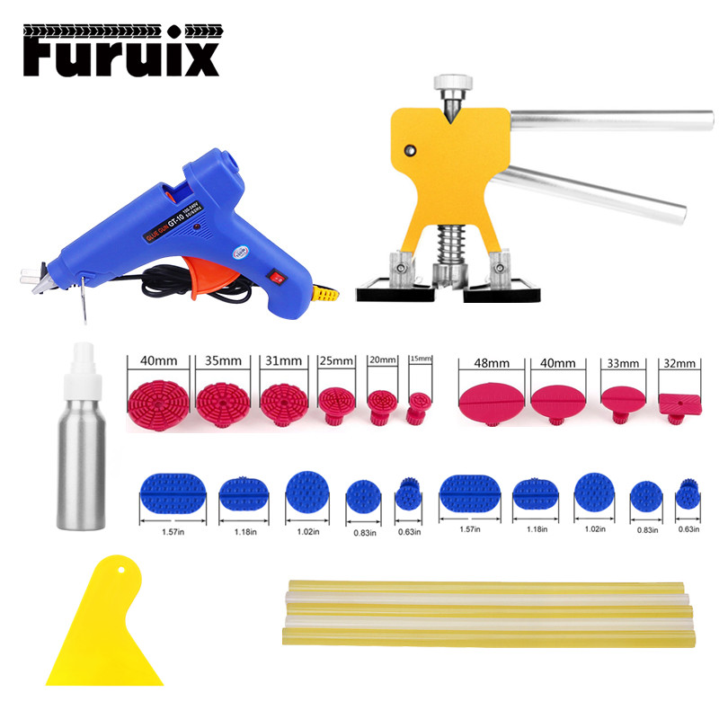 PDR Tools kit Car Dent Repair Tool dent puller glue gun dent tabs for Auto body Paintless dent removal hand tool set цена и фото