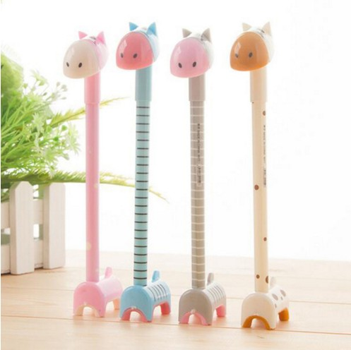 10 pcs new Korea Creative style lovely stand donkey colorful Ball Point pen Cute new design Stationery Assemble giraffe gel Pen