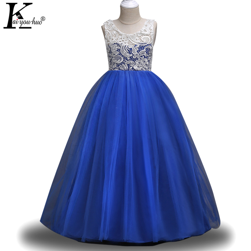 Girls Dress Summer Kids Dresses For Girls Princess Dress Children Clothing Teenagers Wedding Dresses Costume For Girls Vestidos summer 2017 new girl dress baby princess dresses flower girls dresses for party and wedding kids children clothing 4 6 8 10 year