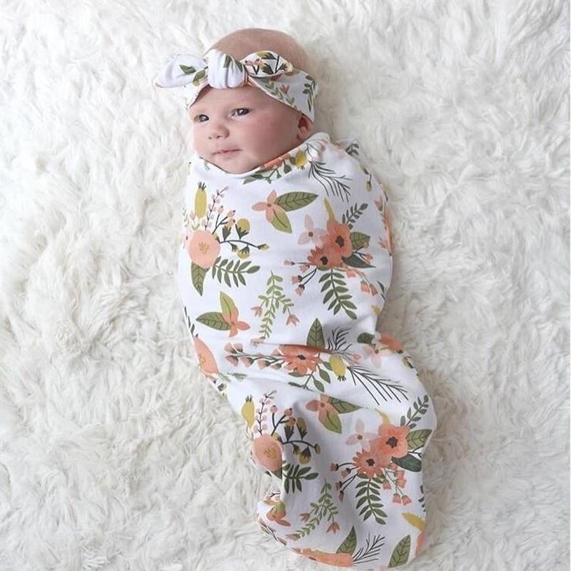 Verscheidenheid Bedrukking Babyslaapzak + haar met 2 sets katoenen - Beddegoed - Foto 2