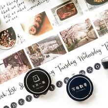 15/20/35mm Creative Kawaii Waterproof PET Scotch Masking Tape DIY Decorative Adhesive Tape Scrapbooking Bullet Journal Supplies no name sport bullet l 35mm d 27mm 25гр