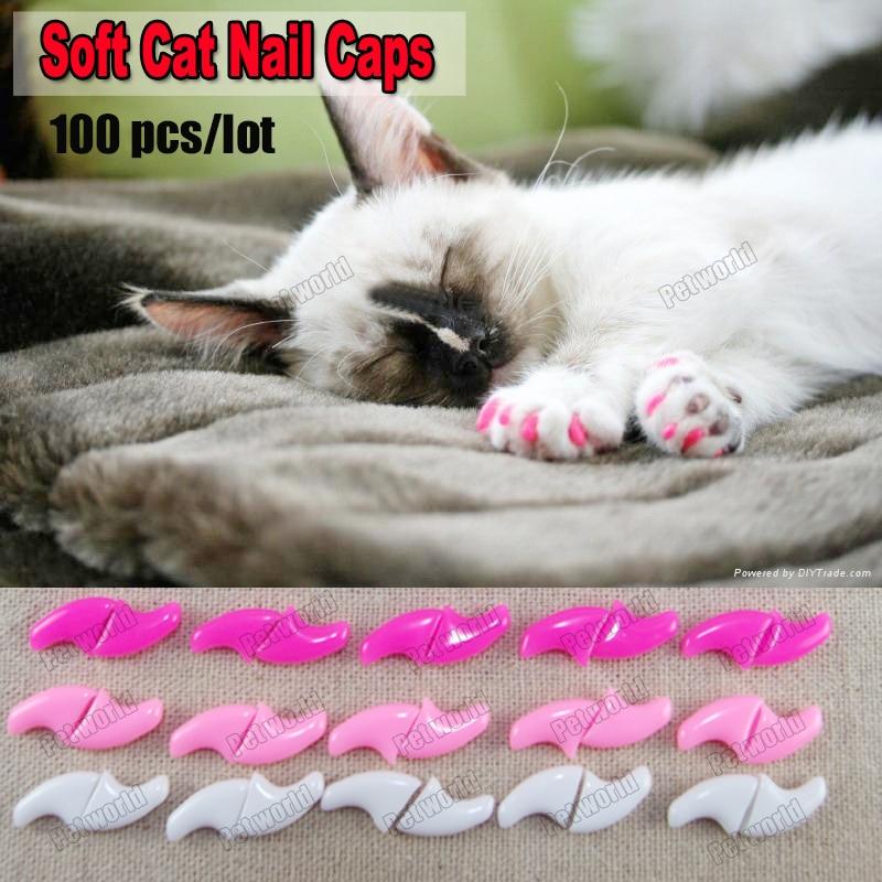 100pcs/lot Soft Cat Pet Nail Caps Control Pets Silicon Nail ...