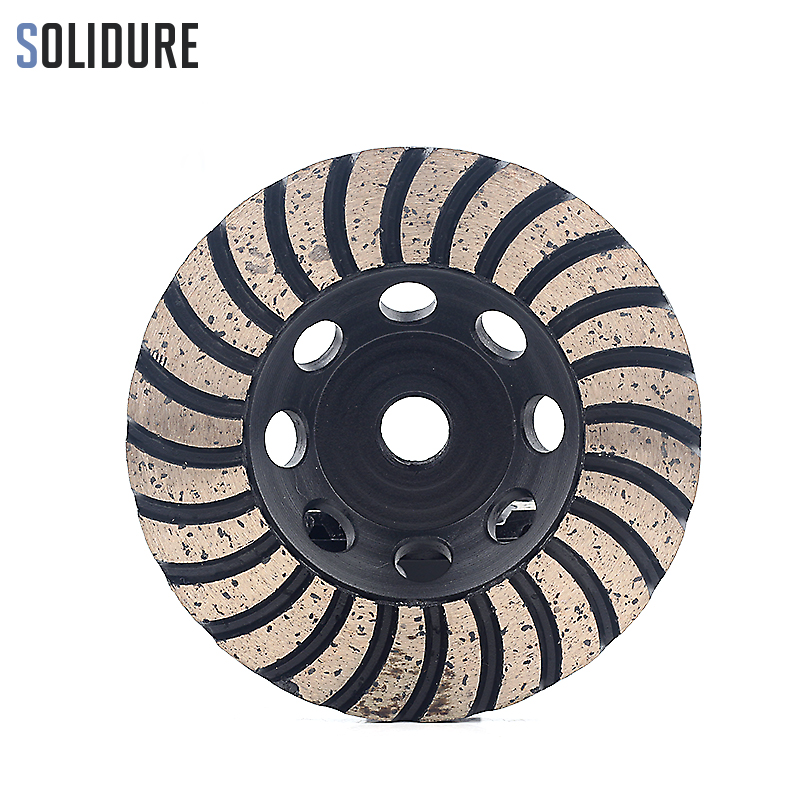 100mm Arbor M14 Fine# Turbo Diamond Grinding Cup Wheels With Iron Backer For Grinding Stone,concrete And Tiles