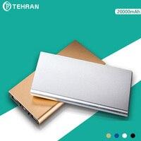 20000 MAh Aluminum Alloy Ultra Thin 9mm External Battery Pack For Iphone 8 Light Portable Dual