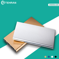 20000 MAh Aluminum Alloy Ultra Thin 9mm External Battery Pack For Iphone 8 Light Portable Dual