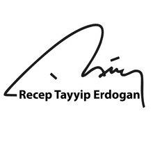 18*10cm Auto Motorrad Aufkleber For Recep Tayyip Erdogan Sticker Autogramm Unterschrift Cool Graphics Vinyl