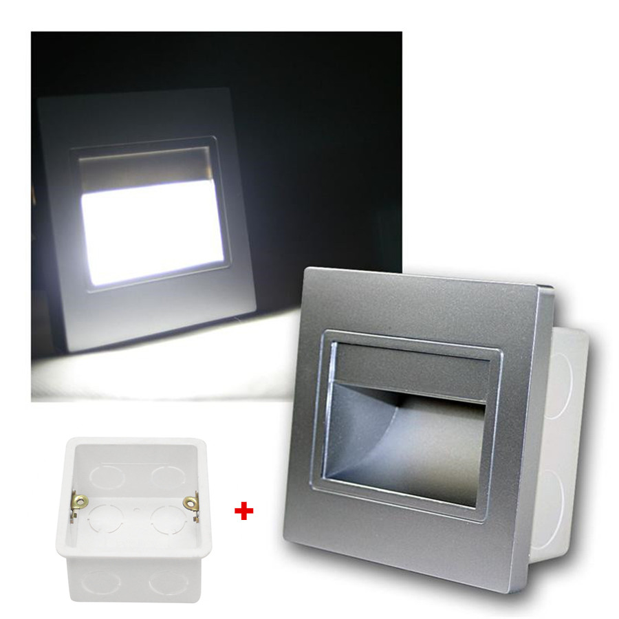 Recessed LED Wall Sconce Lights 1.5W AC85-265V Recessed Led Stair Light Stairway Corridor Wall Foot Lamp Warm / Cool White