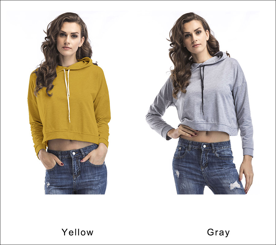Gladiolus Spring Hooded Hoodies Women Long Sleeve Sexy Crop Top 2019 Short Slim Sweatshirt Women Loose Pullover Tracksuit Tops (21)