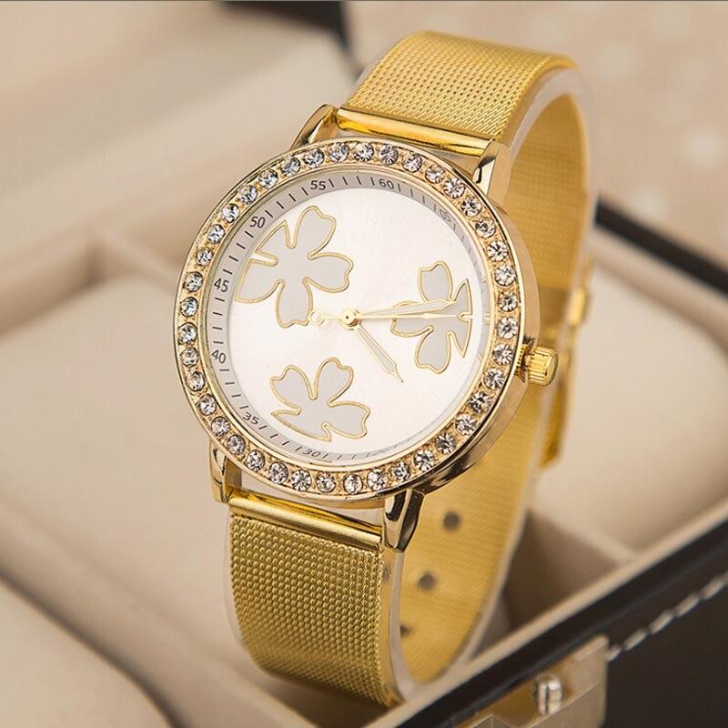online buy whole lucky brand watches for men from lucky unisex originals branded quartz gold watch women lucky clover mesh belt alloy watch diamond quartz wrist