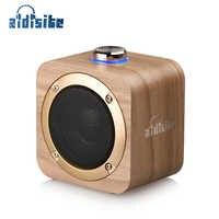 AIDISITE Rotierenden Tuning Holz Bluetooth Lautsprecher Drahtlose Tragbare Lautsprecher Unterstützung TWS Lautsprecher Stereo-Sound für Heimkino