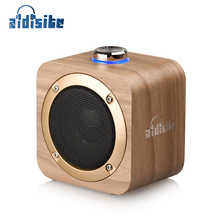 AIDISITE Rotating Tuning Wood Bluetooth Speaker Wireless Portable Speaker Support TWS Loudspeaker Stereo Sound for Home Theater lonpoo 2017 newest bookshelf speaker 2 way 75w classic wooden loudspeaker for home theater system black