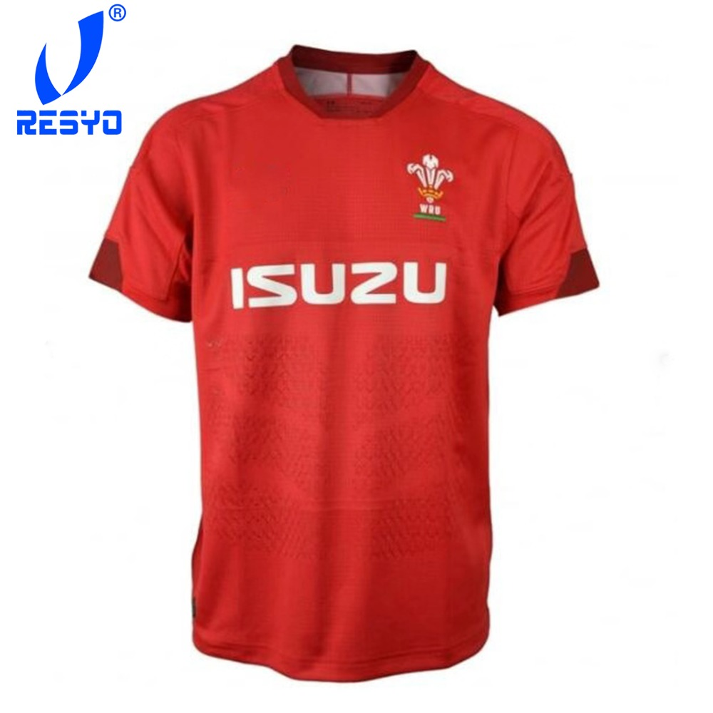 RESYO For 2019 WRU WELSH Men's RUGBY JERSEY  Sport Shirt Size:S-3XL Free Shipping