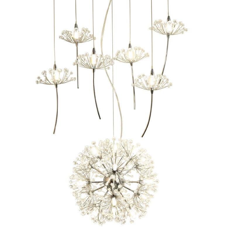Причудливые конструкции современных Хрустальная люстра светодиодный светильники для столовой гостиная лампа
