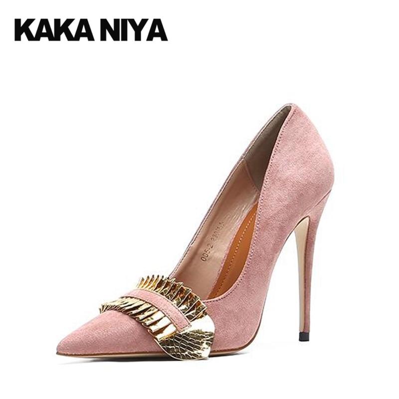6bdf519804 Sapatos Femininos Super Ultra Novidade Salto Alto Scarpin Extremo Camurça  Rosa Apontado Para Cima Tamanho 4 34 Bombas Fetiche Famoso Moda China  Primavera ...