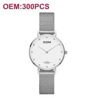 Customiz свой собственный бренд для женщин Роскошные модные наручные часы водонепроницаемые ультра тонкий браслет Кварцевые часы Reloj Mujer