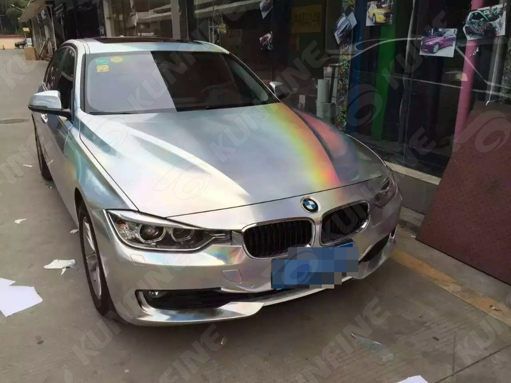 Car Styling Wrap Laser Chrome Car Vinyl film Body Sticker Car Wrap With Air Free Bubble For Vehiche Motorcycle 1.52*20M/Roll quality guarantee silver chrome vinyl film for car wrapping sticker with air bubble free 20m roll