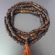BRO541 Tibetan Buddhist 108 Yak Bone Skull Prayer Beads Malas for Man