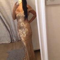 Sexy Pailletten Schulterfrei Maxi Kleid Futter Low Cut Bodenlangen Kleider Gold Glitter Abendkleid Kleid