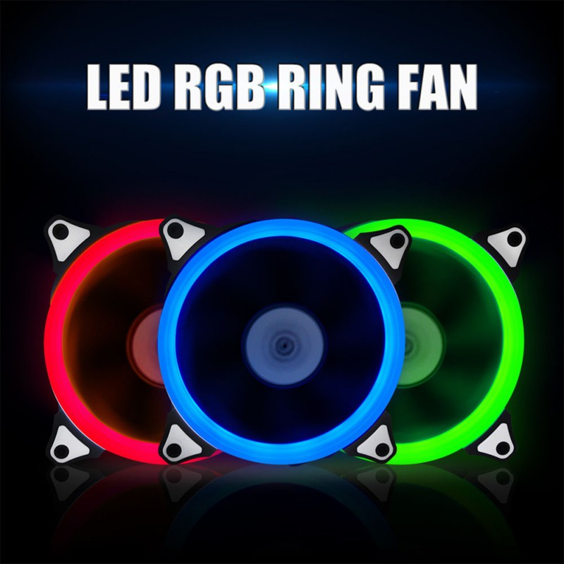 Computer 120mm LED Fan 120 MM Fan Ring Guide Light 4 Colors Blue Red Green White