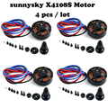 4pcs/lot sunnysky X4108S 380KV 480KV 600KV Outrunner Brushless Motor for Multi-rotor Aircraft multi-axis motor disc motor