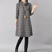 font b Maternity b font Dresses in Autumn and Winter Long Sleeve Turtleneck font b
