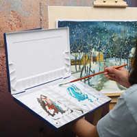 Superior Moisturizing Water Color Painting Palette Professional Plastic Watercolor Art Palette Supplies paleta acuarela