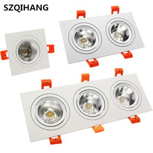 Square COB Led Dimmable 10W/2*10W/3*10W Down Light Downlight Recessed Ceiling Spot Lamp