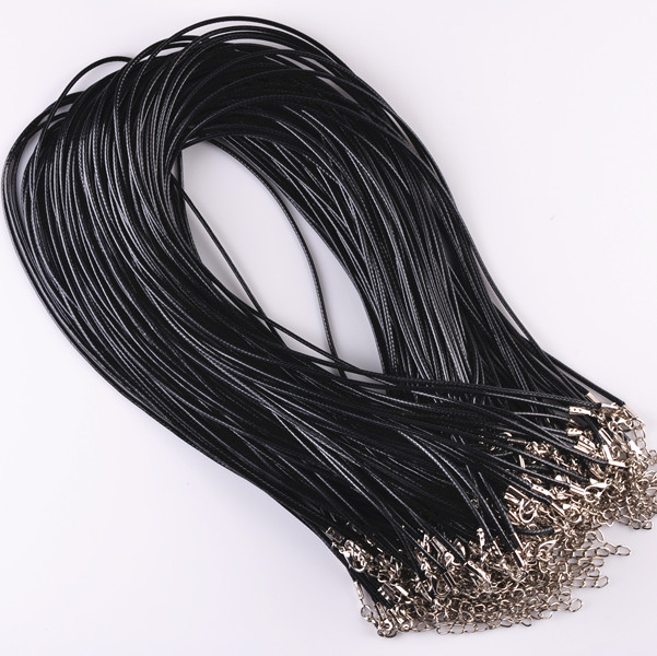 Sale 9 Colors 1.5 mm 10 Pcs/lot DIY PU Leather Chains Pendant Charms Rope Bracelets Findings String Cord Jewelry Accessories