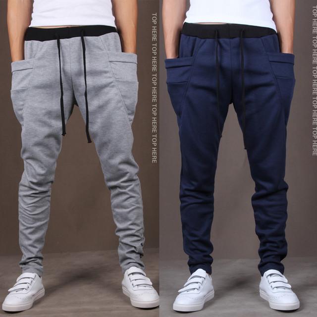 2016 Nueva Primavera Moda hombres de la Marca de Ropa de Los Hombres Pantalones de Chándal, calidad hombres Camiseta Slim Fit Diseño Pantalones envío gratis