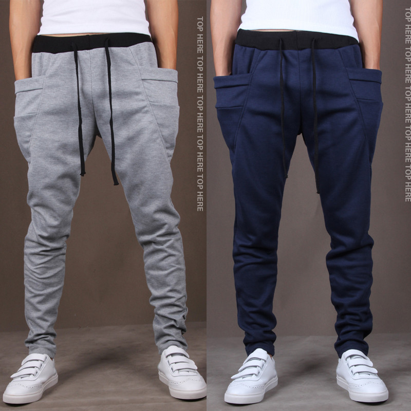 2017 New Spring Fashion Brand Mens Clothing Mens Sweat Pants ,Quality Mens Slim Fit Design Trousers free shipping