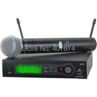 Best продажи бренда Beta 58a профессиональный ручной Беспроводной Микрофон Звук Системы для ди джеев, Беспроводной микрофон
