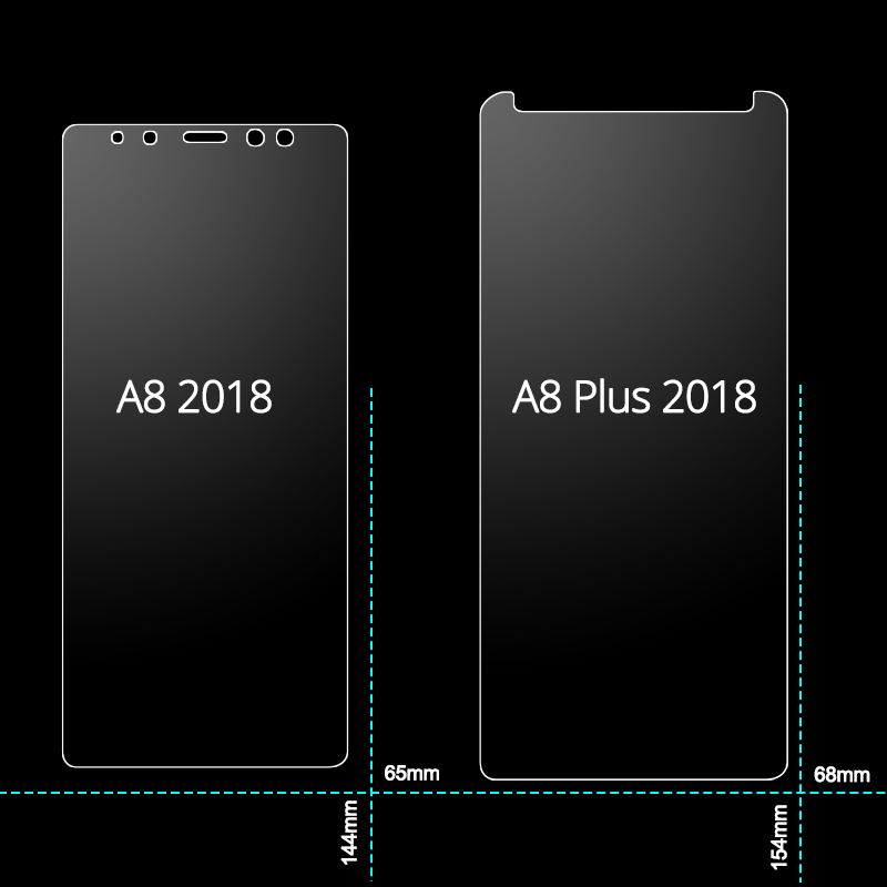 MRELF Tempered Glass for Samsung Galaxy A8 2018 Screen Protector A830 on Phone Protective Glass for Samsung A8 Plus 2018 Glass