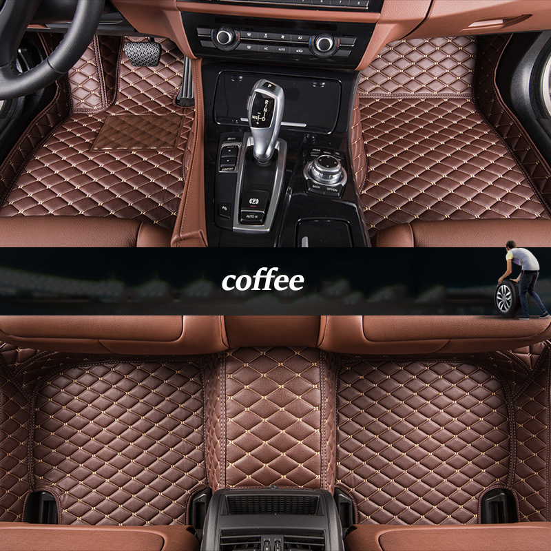 kalaisike Custom car floor mat for Peugeot All Model 4008 RCZ 308 508 301 301 3008 206 307 207 2008 408 5008 607 car styling car believe custom car trunk mat for peugeot 5008 508 206 4008 306 307 308 207 cargo liner interior accessories car styling