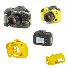 Приятно камера видео мешок силиконовый чехол для nikon d7200 d7100 резина камеры защитный чехол кожа случае сумка для фотокамеры