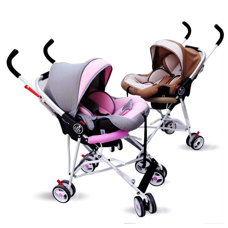 Portable Infant Baby Sleeping Basket Newborn Cradle Car Safety Seat Baby Stoller 2 In 1 Folding Travel System Pram Pushchair babysing baby car safety seat sleeping basket portable newborn baby carrier basket safety car seat cradle for baby 0 12 m