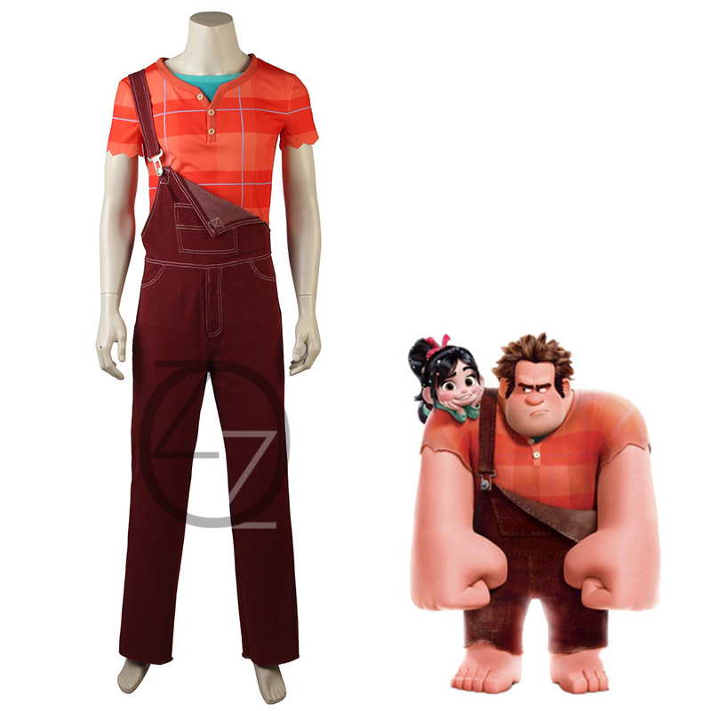 Movie Wreck It Ralph 2 Ralph Cosplay Costume Ralph Breaks the Internet Casual Outfits Halloween Carnival Uniforms Custom Made