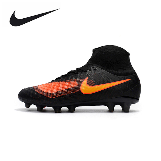 b227e516565 ... good nike magista obra ii fg sneakers soccer shoes black orange outdoor  lawn high quality men