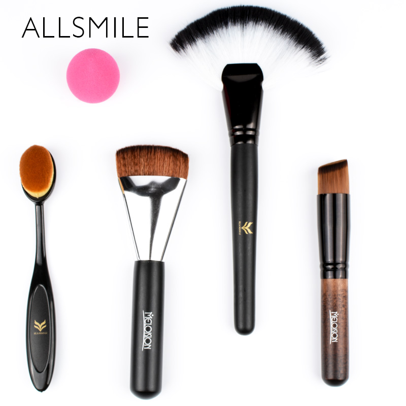 ALLSMILE Make up Brushes Set Powder Foundation Blusher Eyebrow Lip Eye shadow Beauty  Cosmetic Tool Kits pinceis de maquiagem 8pcs beauty makeup brushes set eyeshadow blending brush powder foundation eyebrow lip cosmetic make up tools pincel maquiagem